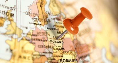 Mapa XEROX Business Partner Polska - ABM System - wynajem kserokopiarek Warszawa - Mapa Polski z szpilką